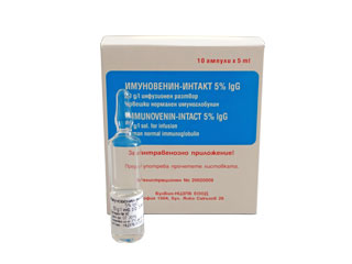 Immunovenin-intact 5 % IgG solution for infusion