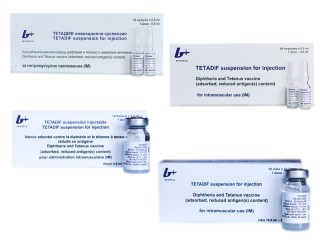 Tetadif suspension for injection